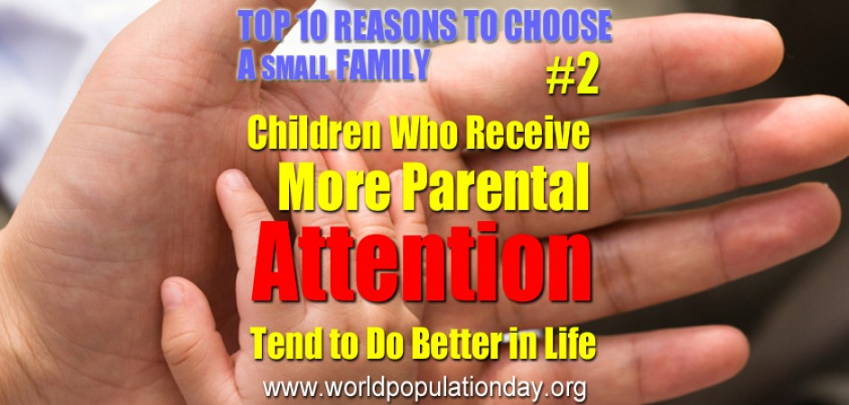 Top 10 Reasons to Choose a Small Family - #2
