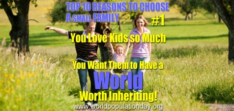 Top 10 Reasons to Choose a Small Family - #1